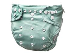Adjustable Cloth Diaper - Brook Green