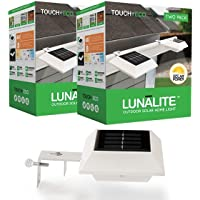 4-Pack Touch of ECO LUNALITE Solar Outdoor Lights (White/Black)