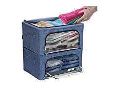 Storage Box With Window, Small 2 Pack