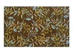 TRIO Chocolate and Spa Blue Hand-Tufted Rug