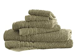 6-Piece Everyday Solid Towel Set - Taupe