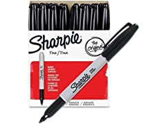 Sharpie Permanent Markers Fine Point- 36 Pack