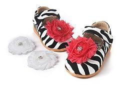 Squeaky Shoe - Lily, Zebra (3, 6-8)