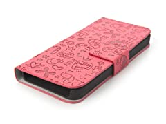 Happy Flip Case for iPhone 5 - Dark Red
