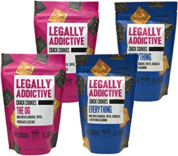 4-Pk. Legally Addictive Foods Crack Cookies