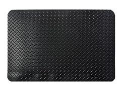 5' Indoor Diamond Mat, Solid Black