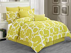 Rhys Hotel Comforter Set-Avocado-King