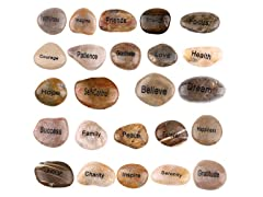 Engraved Inspirational Stones from The Holy Land, 24ct