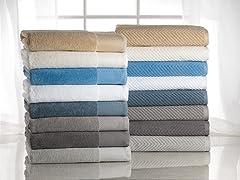 100% Cotton Jacquard 16-Piece Towel Set