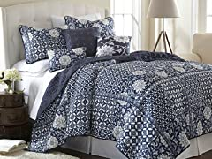 6-Pc Zion Printed Reversible Quilt Set