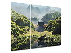 Temple of Perpetual Autumn 3-PC Canvas