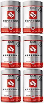 6-Pack illy Classico Medium Roast Ground Espresso Can only $37.99