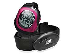 Bluetooth Fitness Heart Rate Watch - Pink
