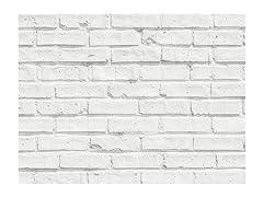 Home Decor Line White Bricks Kitchen Panel Decal