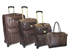Union Square Lux Ostrich 4pc Set - Brown