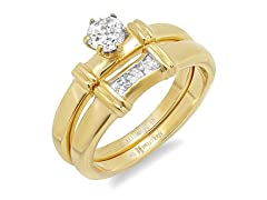 Set of Two Stackable Engagement Rings
