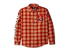 FOCO San Francisco 49ers Flannel Shirt