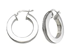 Italian Sterling Silver Thick Hoops