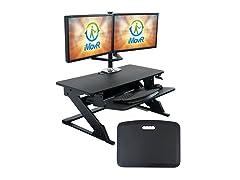 iMovR ZipLift+ Standing Desk Converter w/ Mat