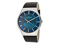 Men's Denmark Blue Dial Leather Watch