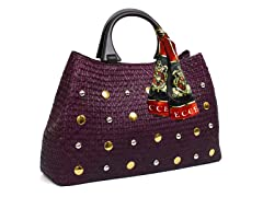 Straw Bags, Purple
