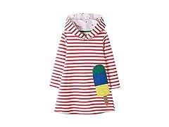 Baby Girls Dress Stripes Hoodie Pullover