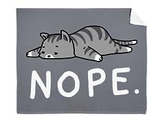 """""""Nope Cat"""" Mink Blanket"""