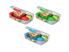 3-Pack Bento Lunch Container Set