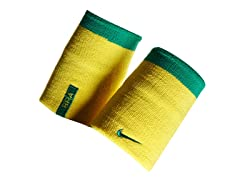Nike Doublewide Wristbands-Yellow/Green