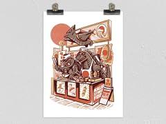 """Kaiju Street Food"" Matte Poster"