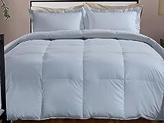 800TC Down Alternative Comforter-Smoke-3 Sizes