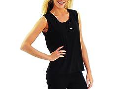 Women's Sleeveless Shirt, Solid Black