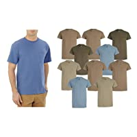 10-Pack Fruit of the Loom Mens Assorted Pocket T-Shirt Earth Tones