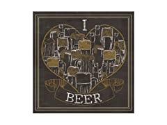 I Love Beer Coasters- Set of 4