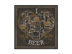 I Love Beer Coasters- Set of 4