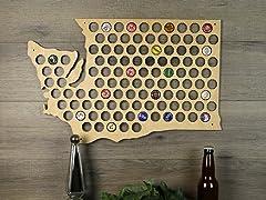 Beer Cap Map: Washington
