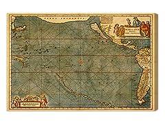 Mare Pacificum Map 1600s (4 Sizes)