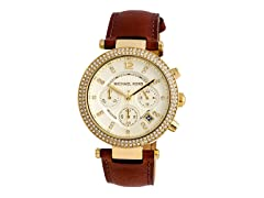 Michael Kors MK2249 Brown Leather Strap Watch