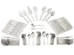 Wallace 18/10 92Pc Flatware Set-Parker