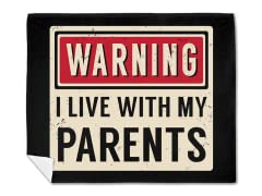 """Parental Warning"" Blanket"