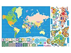 Peel, Play & Learn World Map