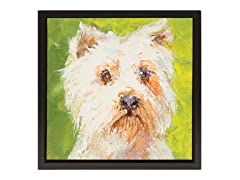 Unleashed Life Westie Oil Painting