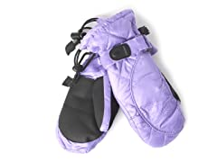 Kid's Down Mittens - Purple