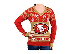 NFL Women's V-Neck Sweater, San…