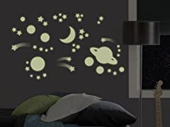 Glow-in-the-Dark Outer Space - Set of 4