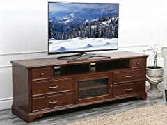 Abbyson Living Monet Walnut 72-inch Solid Oak