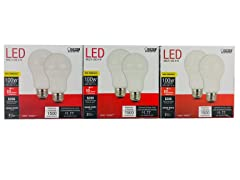 LED Non-Dimmable, Frosted A19 Bulb (6-pack)