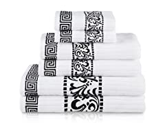 Superior Athens 550GSM Cotton 6-Piece Towel Set