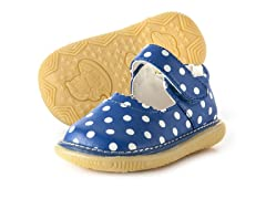 Mary Jane Squeaker - Blue & Dots (3-8)