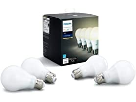 Philips Hue White A19 Bulb 4-Pack